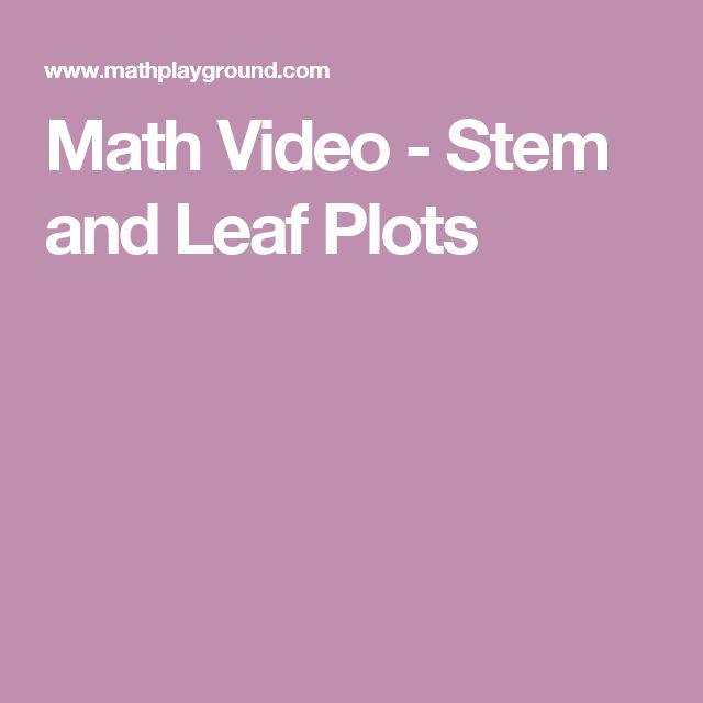 Math Video - Stem and Leaf Plots