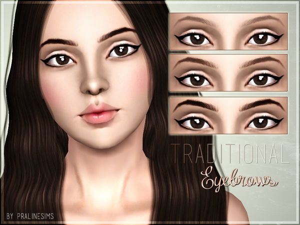 Traditional Eyebrows by Pralinesims - Sims 3 Downloads CC Caboodle