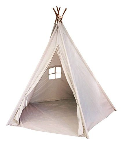 Indoor TeePee Tent 6' Tall Classic Five Wood Poles and Carry Bag