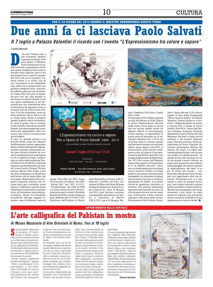 Due anni fa ci lasciava Paolo Salvati  Era il 24 giugno del 2014 quando il Maestro abbandonava questa terra.  di Emma Moriconi