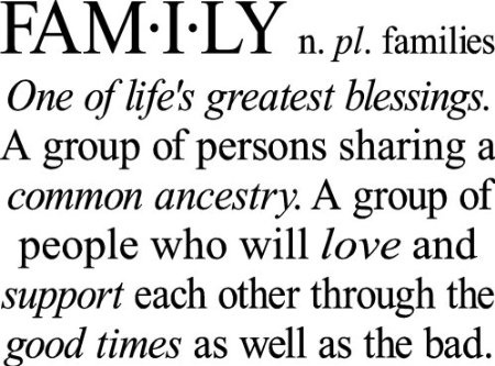 Family One Of Life's Greatest Blessings