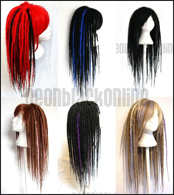 Custom dread wig - long synthetic dreadlock wig - Made to order