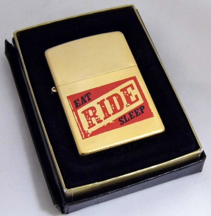 Vintage Zippo Marlboro Cigarette Lighter, Eat-Ride-Sleep | Cigarette Lighters | Pinterest | D ...