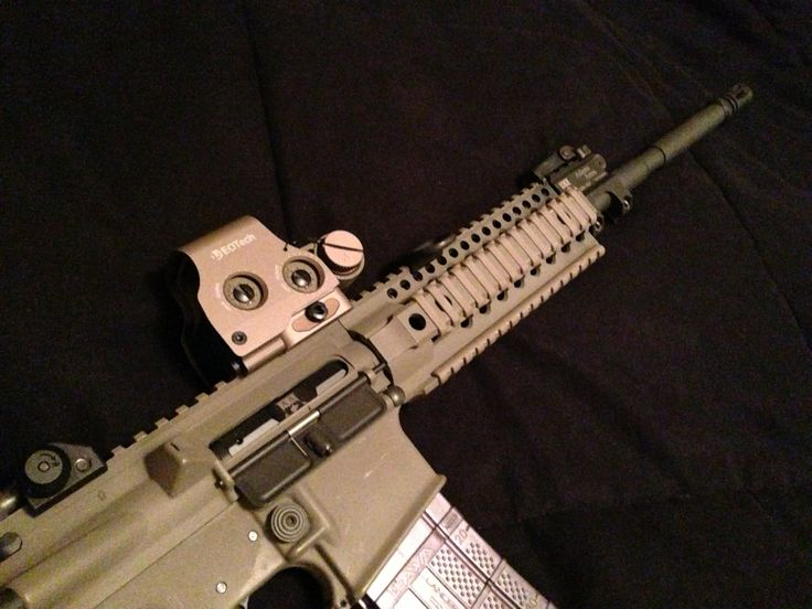 Custom Adams arms build. Daniel defense Omega X rail, Daniel defense barrel. Eotech EXPS 3