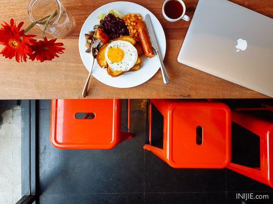 Libby Cafe - English Breakfast Toast Address:  Jl. Sukomanunggal Jaya No. YL2 , Surabaya