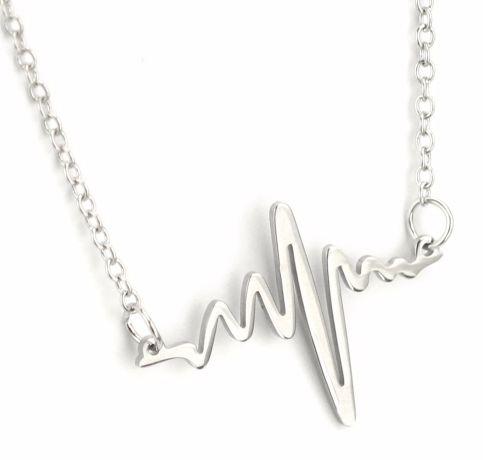 Electrocardiogram Rhythm Heart Beat Necklace Gift for Doctor Nurse Firefighter Paramedic EMT Medical Buy 1 Get 1 FREE