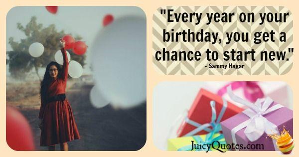 Birthday Quote - Sammy Hagar