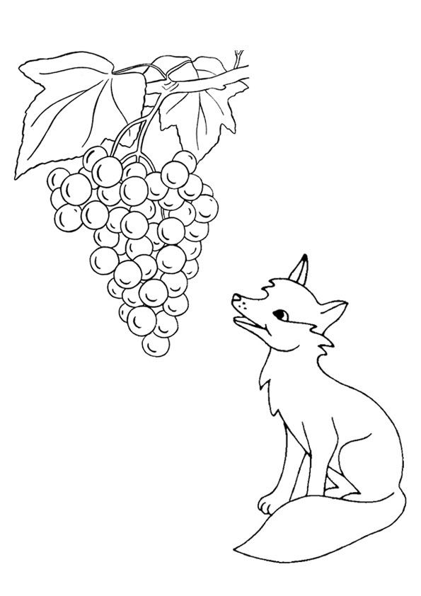 Print Coloring Image Momjunction Fox Coloring Page Fox Images