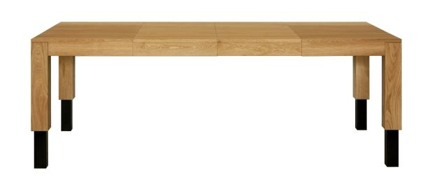 ROBO, colour: Gray, 120 + 2x50x100x55-95 - www.miloni.pl/en MILONI: wooden table, oak table, natural wood table, table design, furniture design, modern table