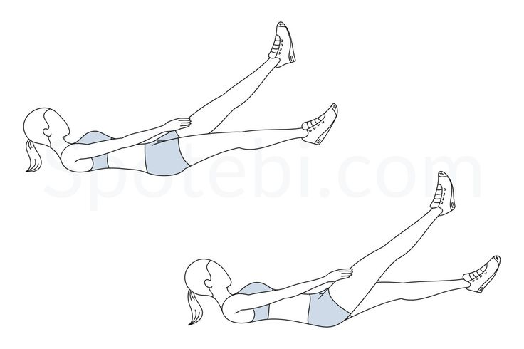 Adding flutter kicks to your workout routine helps to increase core strength and definition, and improves your endurance and flexibility. This exercise targets the abdominal muscles and helps to define and slim down your waist. http://www.spotebi.com/exercise-guide/flutter-kicks/