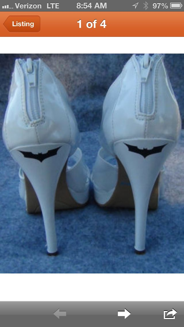 aawwww! this is so cute! If I have a super hero themed wedding (which I probably will) I would totally wear these!!!