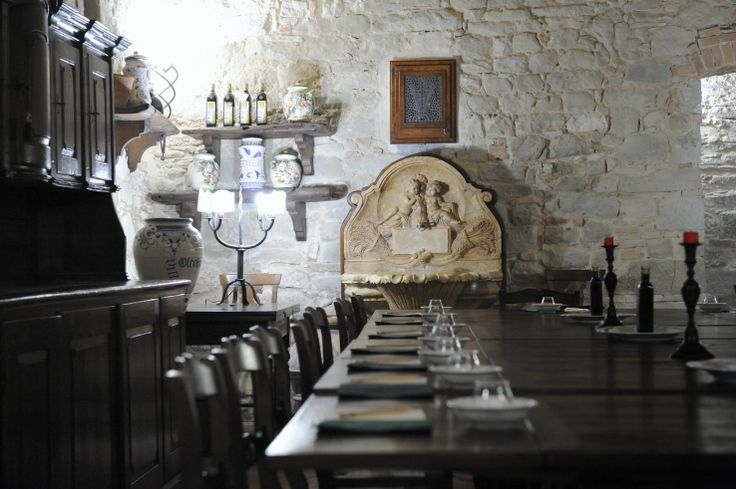 dining in a Tuscan ambiance at Villa Campestri Olive oil resort