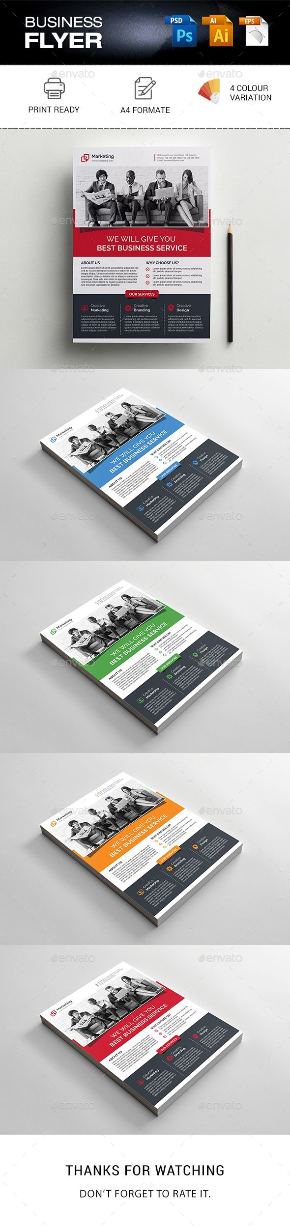 #Business #Flyer Template - Corporate Flyers