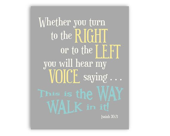 8x10  Bible Verse Print Isaiah 3021 by BackyardDaisies on Etsy, $15.00
