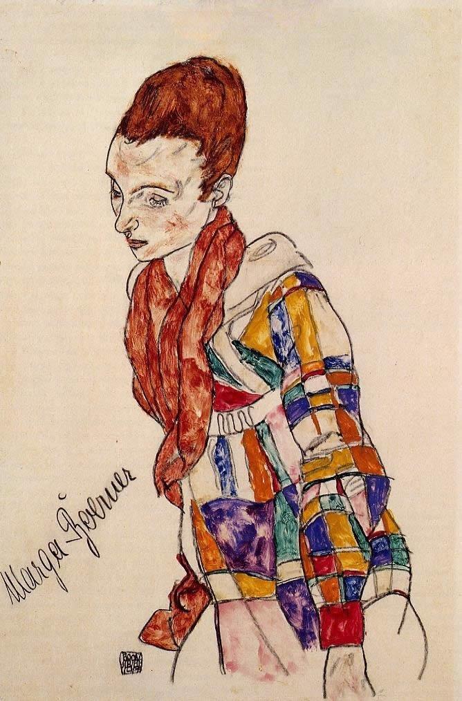 Egon Schiele - Portrait of Marga Boerner, 1917