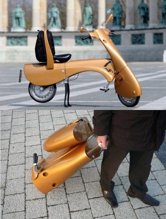 Scooter in a Suitcase --created by  Hungarian Engineers