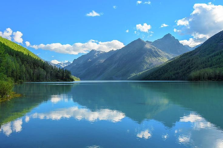 Lake Reflections. Altai Mountains by Victor Kovchin