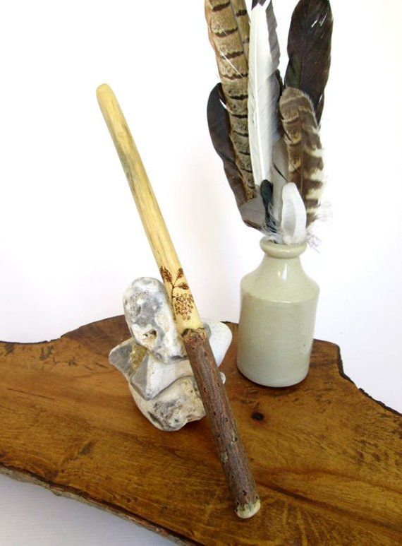 Elder Wood Wand Ethically Sourced In Somerset Wicca Witchcraft Druid Pagan Wands Wicca Witchcraft Beeswax Polish