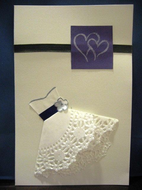 Doily dress Bridal Shower invites