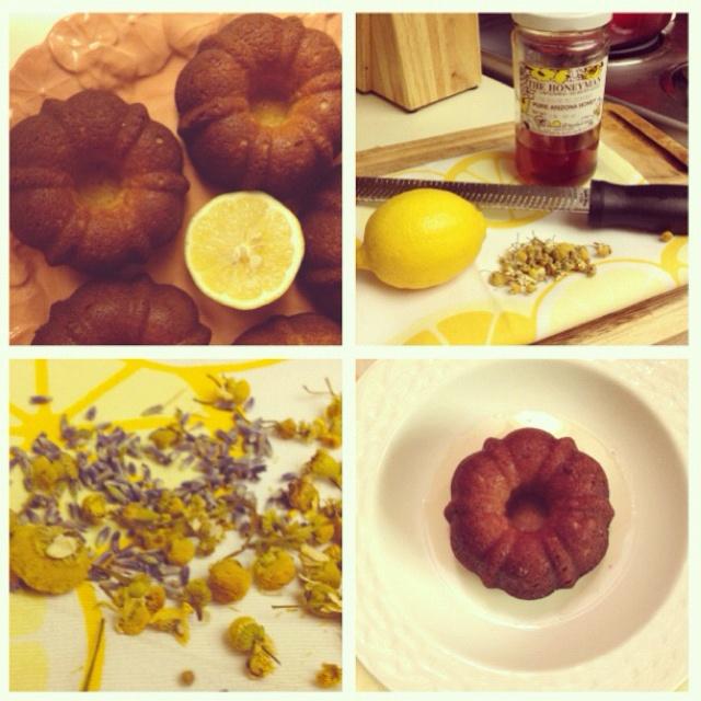 Honey/lemon/lavender/chamomile tea cakes | My Edible Adventures | Pin ...