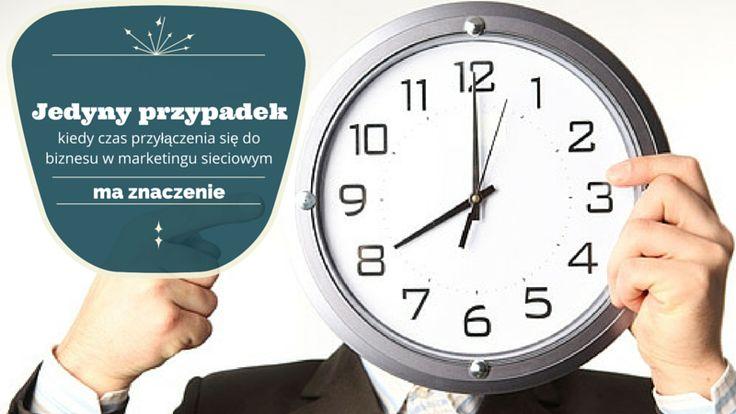 Czas przyłączenia się do biznesu w marketingu sieciowym nie ma dużego znaczenia oprócz jednego przypadku.  Przypadku, o którym więcej możesz dowiedzieć się tutaj: http://blog.swiatlyebiznes.pl/jedyny-przypadek-kiedy-czas-przylaczenia-sie-do-biznesu-w-marketingu-sieciowym-ma-znaczenie/