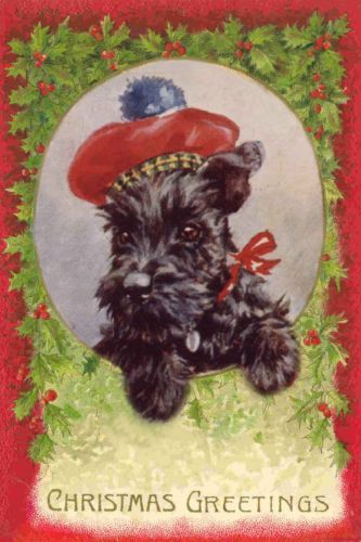 Scottish-Terrier-Dog-40-039-s-Florence-Valter-New-LARGE-Blank-Christmas-Note-Cards-2