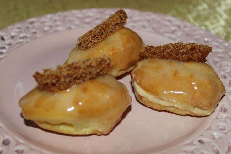 Des petits choux à la crème de pain d'épices...