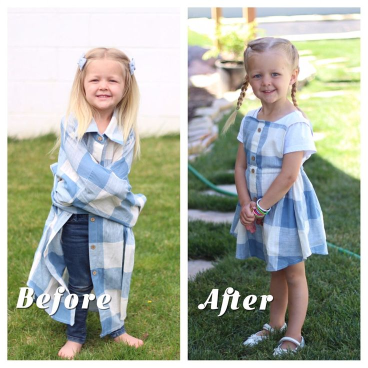 Mom Turns Husband's Old Shirts Into Adorable Dresses For Her Daughters | HuffPost