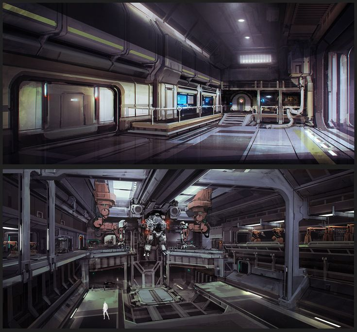 Artstation factory interiors chris chaproniere for Interieur der zukunft
