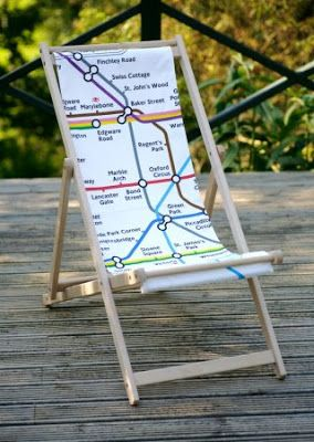 ART IS ALIVE: Classic London Tube Map Deck Chair. I Love It.