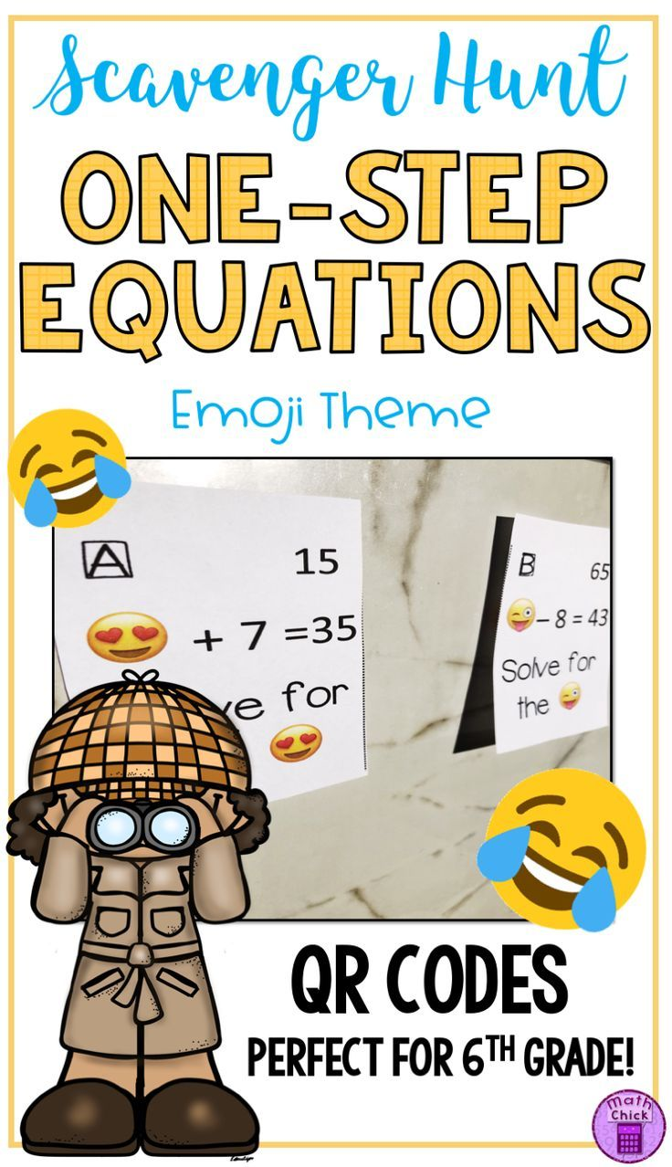 What Is Better Than A Worksheet But Still Provides Authentic Practice Of Solving For The Unknown In One Step Equations Interactive Math Journals Scavenger Hunt [ 1278 x 736 Pixel ]