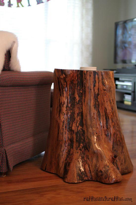 best 25 stump table ideas on pinterest tree stump table coffee table that looks like a tree. Black Bedroom Furniture Sets. Home Design Ideas