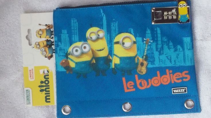 NEW Minions Movie Characters Locking Binder Pouch Zipper Bag Made By Vaultz
