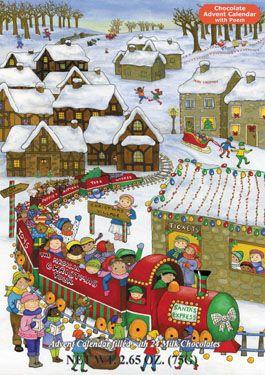 Santa's Express Chocolate Advent Calendar | Chocolate Advent Calendars | Vermont…