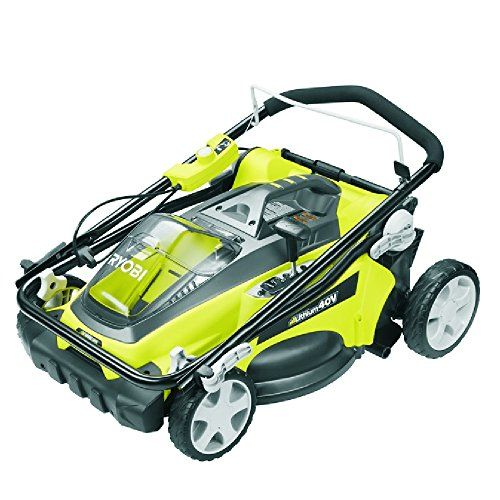 Factory Reconditioned Ryobi ZRRY40110 16 in. 40-Volt Cordless Walk-Behind Lawn Mower Kit