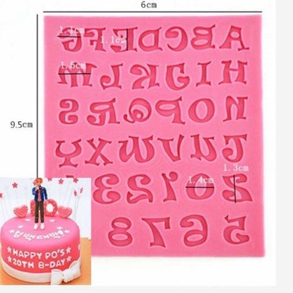 Cake Chocolate Fondant Pan Silicone Alphabet Mold Decorating Trays Tools 1PC