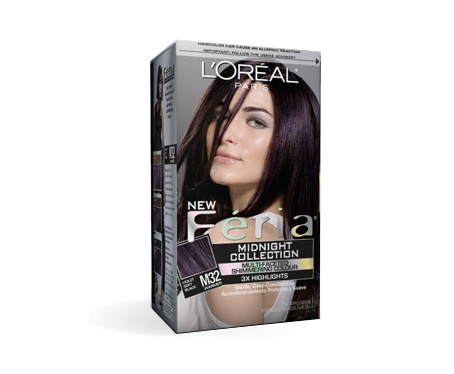 My current hair color L'Oreal Feria M32 Violet Soft Black ...