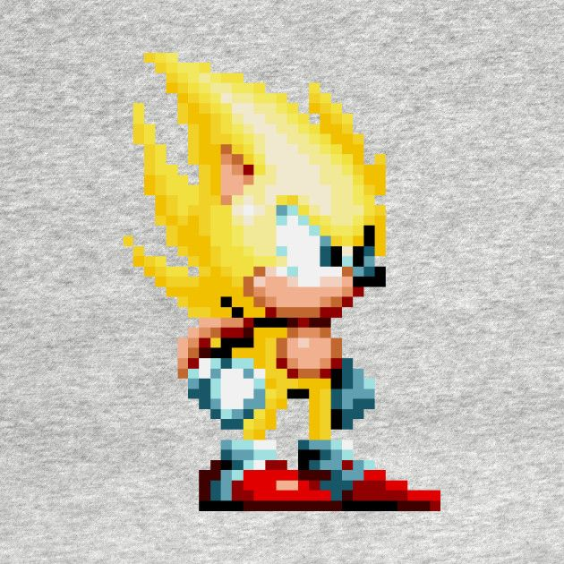 Check out this awesome 'Super+Sonic+Sprite' design on