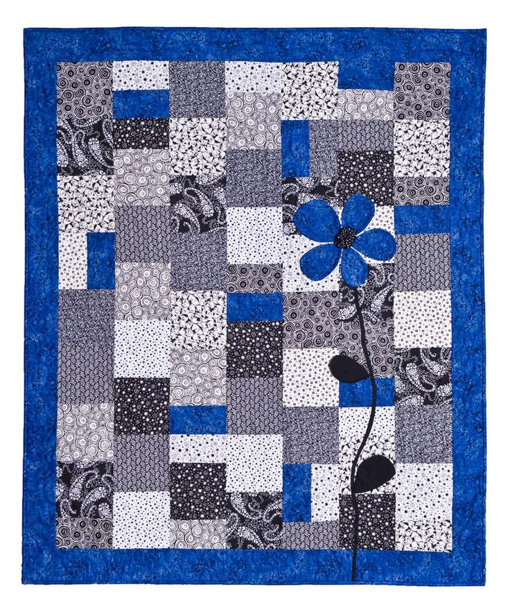 Circle Blue Jean Quilt Pattern | You may click the photos for larger pictures.