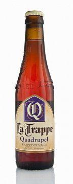 """PIWO LA TRAPPE QUADRUPPEL 0,33L -   Piwo górnej fermentacji klasztorne, klasy """"quadrupel"""" – poczwórne. Najmocniejsza odmiana piwa La Trappe. Bursztynowy kolor, intensywny, charakterystyczny aromat. Subtelna goryczk..."""