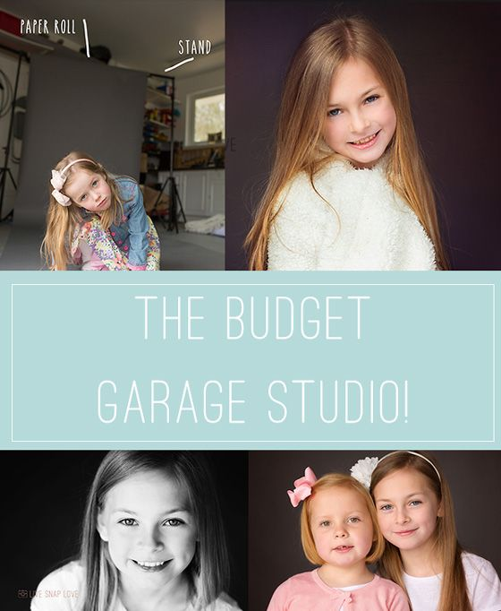 A low-budget, makeshift studio in the garage - includes pull backs and equipment list!