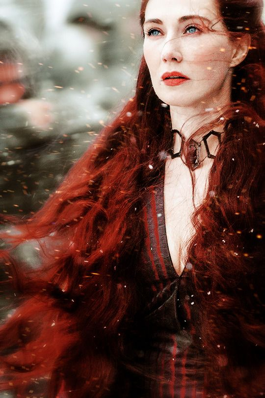 Melisandre | Game of Thrones Season 5 Fire Priestess in the snow