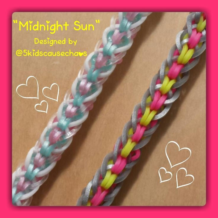 Quot Midnight Sun Quot Rainbow Loom Bracelet How To Tutorial