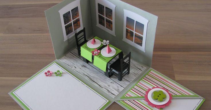 Überraschungsbox Explosionsbox Geschenkgutschein Geldgeschenk Restaurantgutschein Einladung zum Essen Candle Light Dinner