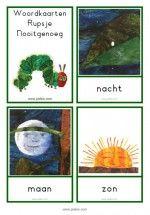 Woordkaarten Rupsje Nooitgenoeg – klein