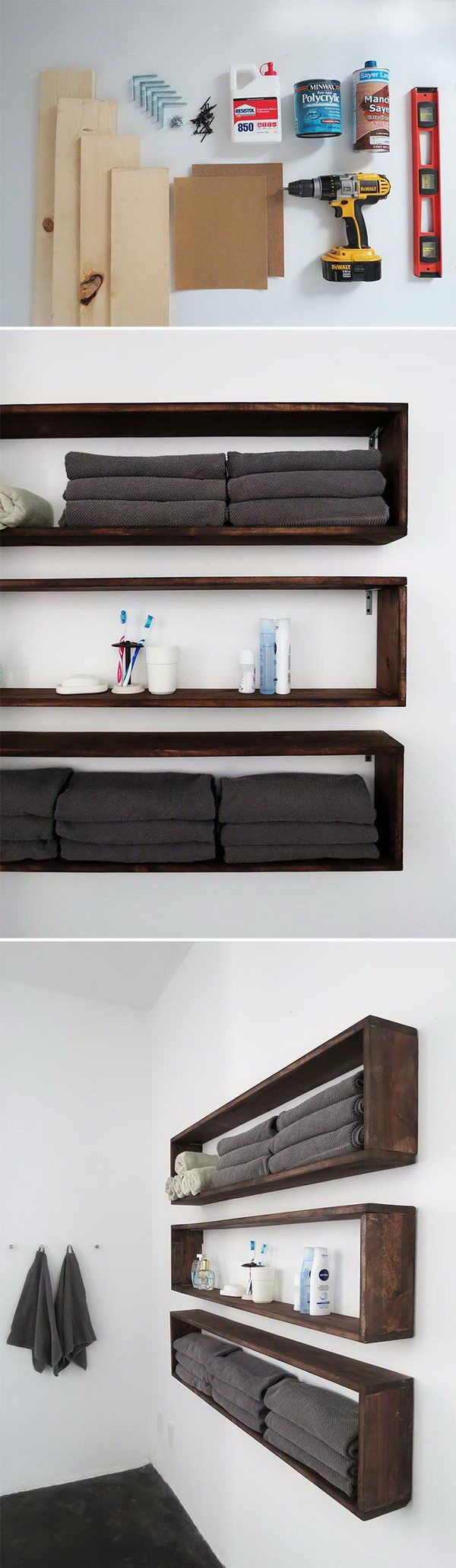 diy shelf ideas for bathroom%0A    Cool DIY Home Decor Ideas