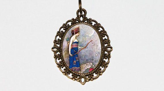 Warrior Queen Necklace Warwick Goble Huntress by TheGoblinCave