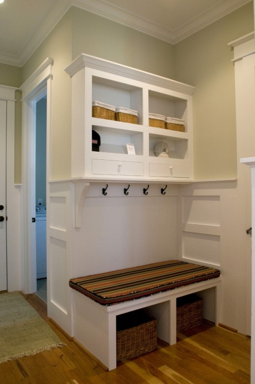 WIll do something like this in an alcove & the bottom of the steps to the basement. Great way to utilize some of our empty space! ~LDK