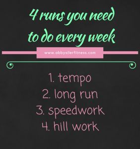 4 Runs to do each week to maximize your training #running #run #racetraining