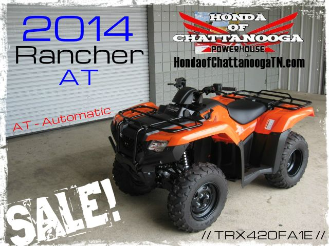 2014 Rancher 420 Orange TRX420FA1E SALE Price at Honda of Chattanooga is too Low to advertise. Visit www.HondaofChattanoogaTN.com or Call / Email Kevin for the lowest & best 2014 TRX420 Rancher 4x4 ATV Sale Price. Our 2014 Rancher AT 420 ATVs are in stock and we have special financing promotions with $0 DOWN. 2014 TRX420FM1E / TRX420FM2E / TRX420FM1E / TRX420FM2E / TRX420FA1E / TRX420FA2E / TRX420FAE / TRX420FPAE. Wholesale Honda ATV Prices Honda of Chattanooga TN GA AL ATV Dealer